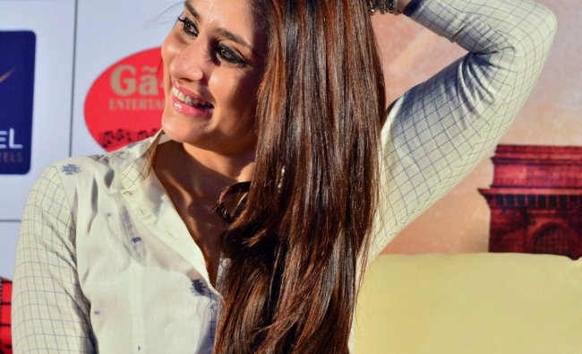 Kareena Kapoor during a promotional event for Singham Returns\' in Ahmedabad...