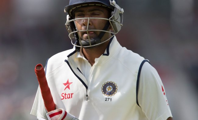 Ravichandran Ashwin walks from the pitch after losing his wicket for 40 ...