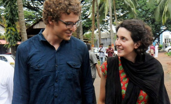 Jonathan Baud, a Swiss national who was arrested on alleged Maoist links in Thrissur, Kerala ...