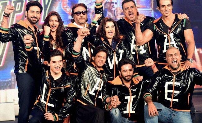 Bollywood actors Shah Rukh Khan, Deepika Padukone, Abhishek Bachchan, Jacky Shroff, Boman Irani...