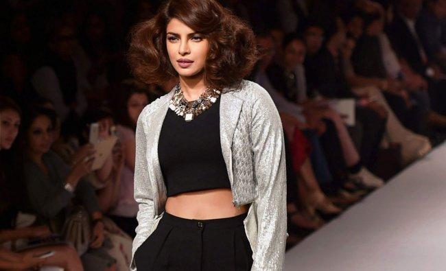 Priyanka Chopra walks for designer Varun Bahl during the Lakme Fashion Week Winter/Festive 2014 ...