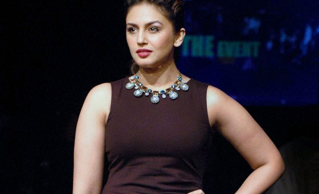 Huma Qureshi during the Lakme Fashion Week Winter/ Festive 2014 fashion show in Mumbai ...