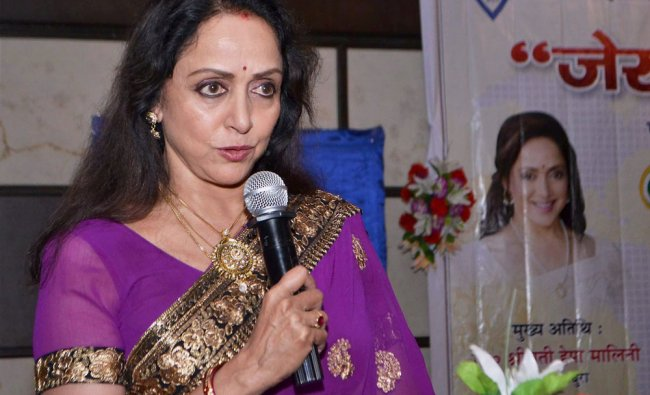 BJP MP from Mathura Hema Malini at a function on women empowerment...