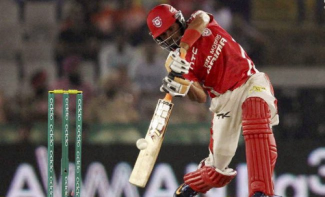 Manan Vohra of Kings XI Punjab in action during the CLT20 match against Northern Knights...
