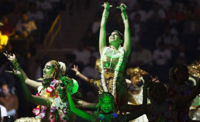 Dancers perform before India\'s Prime Minister Narendra Modi speaks at Madison Square Garden...