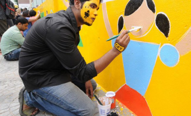 Students of Raffles Millennium International Bangalore and CRY ...