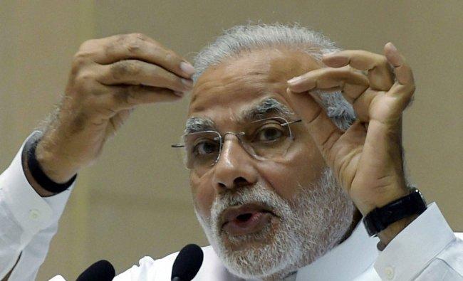 Prime Minister Narendra Modi addresses at the release of the bookVirat-Purush Nanaji social...