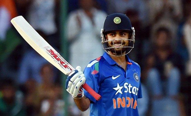 India\'s Virat Kohli celebrates his half century against West Indies during the 2nd ODI cricket ...