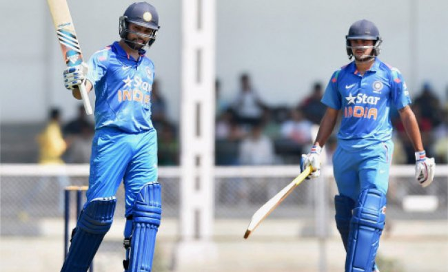 India A players Rohit Sharma and Manish Pandey during a practice match against Sri Lanka...