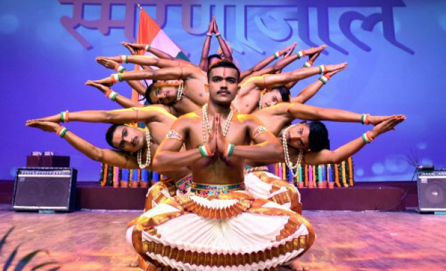 Artists perform during a function on the occasion of birth anniversary of Sardar...