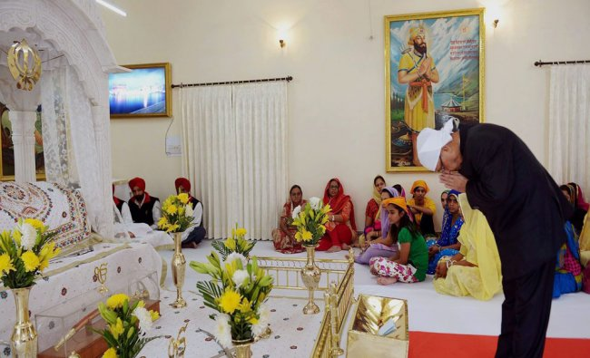 Pranab Mukherjee during the occasion of his 46th Birth Anniversary of Guru Nanak...
