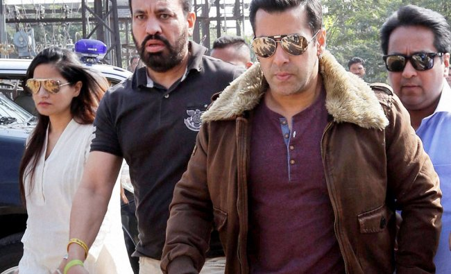 Salman Khan arrives at the court for a hearing in the 1998 Blackbuck case...