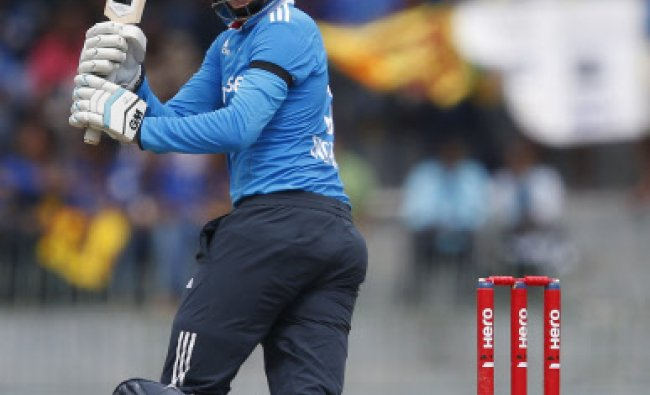 England\'s Joe Root plays a shot their second ODI (One Day International) cricket...