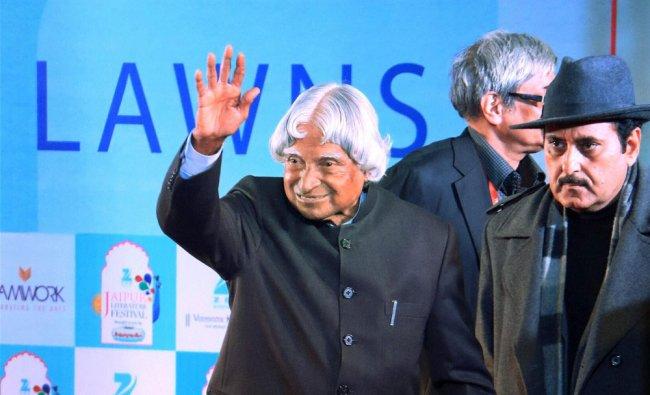 AJP Abdul Kalam during the session at the Jaipur Literature Festival at Diggi Palace in Jaipur...