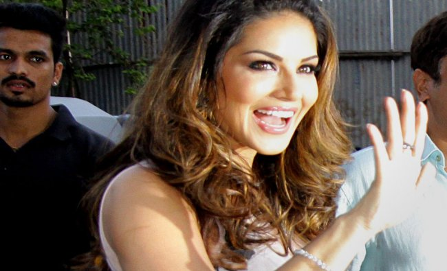 Bollywood actress Sunny Leone after a press conference in Mumbai...