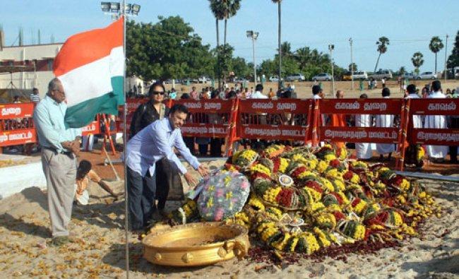 People pay homage at the grave of former president APJ Abdul Kalam in Rameswaram...