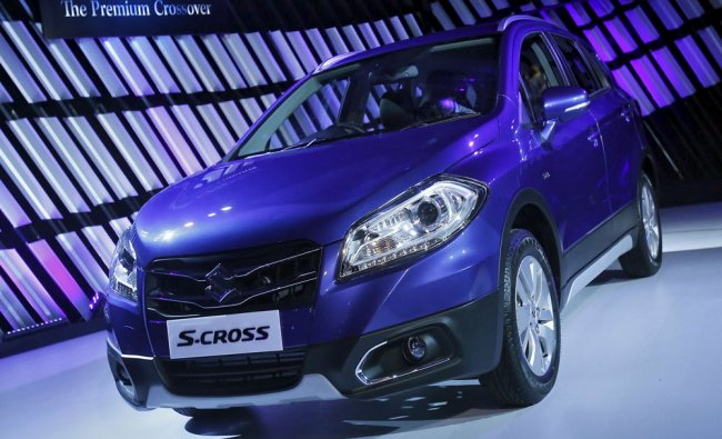 Maruti Suzukis S-Cross vehicle is displayed during its launch in New Delhi...