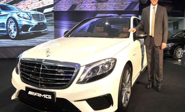 Launch of Mercedes-AMG S 63 car in Bengaluru...