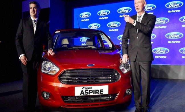 Launch of \'Figo Aspire\'in New Delhi on Wednesday...