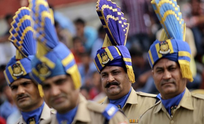 Personnel from India\'s Central Reserve Police Force take part in...