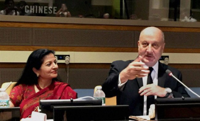 Bollywood actor, Anupam Kher who was selected as a HeForShe Champion by UN Women Deputy Executive...