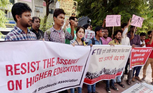 Students under the banner of All India Students Federation (AISF),All India Revolutionary Students..