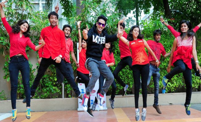 Dancer and choreographer Mudassar Khan promoting a TV show in Ahmedabad on Wednesday...