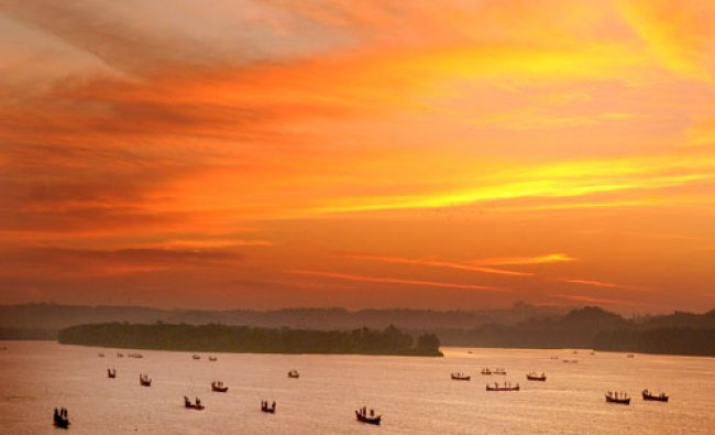 New Year, new hope: As the rays of first sunrise of New Year started to fall on River Nethravathi...