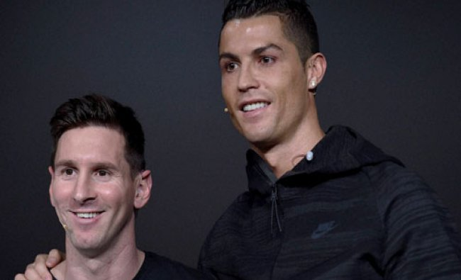 Argentina\'s Lionel Messi and Portugal\'s Cristiano Ronaldo, two of the nominees for the FIFA...