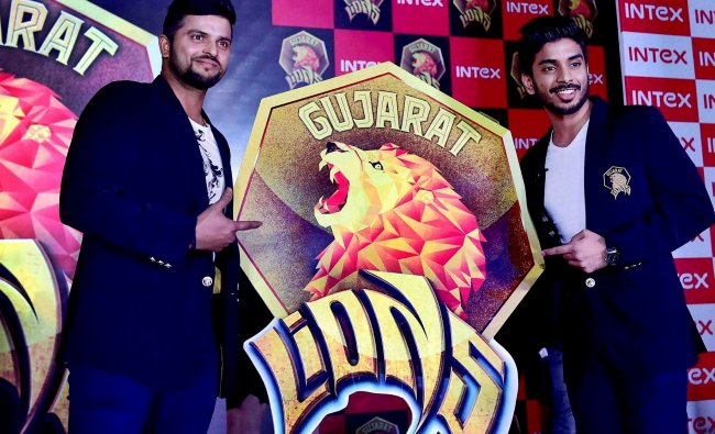 Cricketer Suresh Raina, captain of the Gujarat Lions, the Rajkot franchise for the upcoming edition