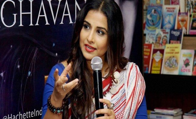 Vidya Balan speaks during the launch of the novel \'Dark Things\' written by Sukanya Venkatraghavan...