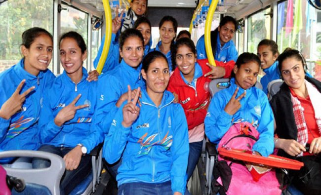 Indian Womens Hockey team arrives in Guwahati on Wednesday. The team will take part in 12th South..