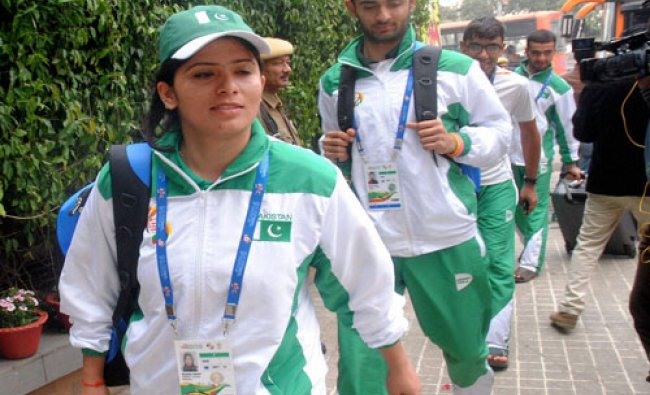 Pakistani contingent arrives in Guwahati on Wednesday. The team will take part in 12th South Asian..