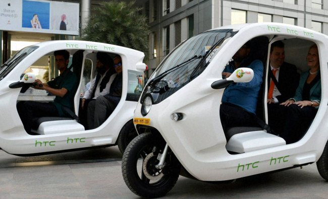 Else Sandberg, wife of the ambassador of Sweden to India launch the Zbee Electric vehicle ...