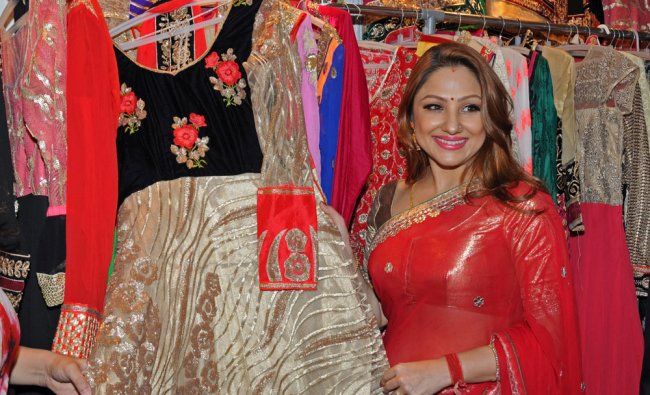 Actress Priyanka Upendra after inaugurating three days wedding essentials collection...