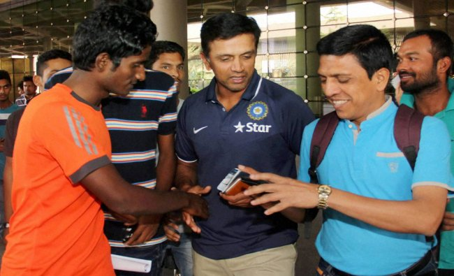 Under-19 Indian cricket team coach Rahul Dravid arrives at the...
