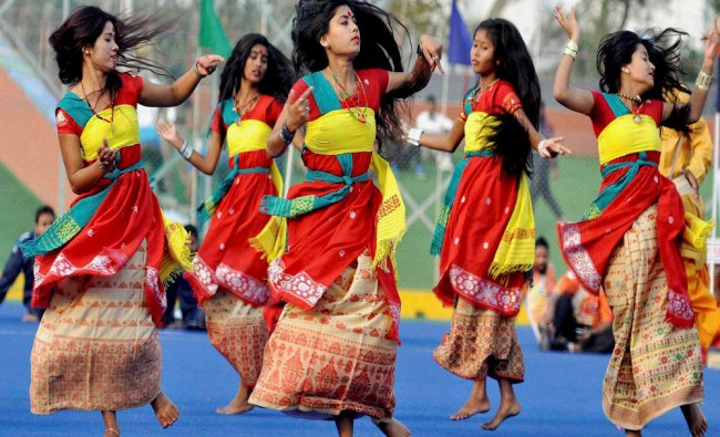 Artists performing during the Opening Ceremony of 64th All India Police Hockey Championship...