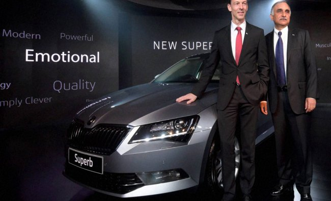 The Launch of Skoda Superb in Mumbai on Tuesday...