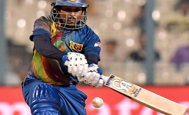 Sri Lankan cricketer Dilshan in action during ICC T20 World cup match at Eden Garden...