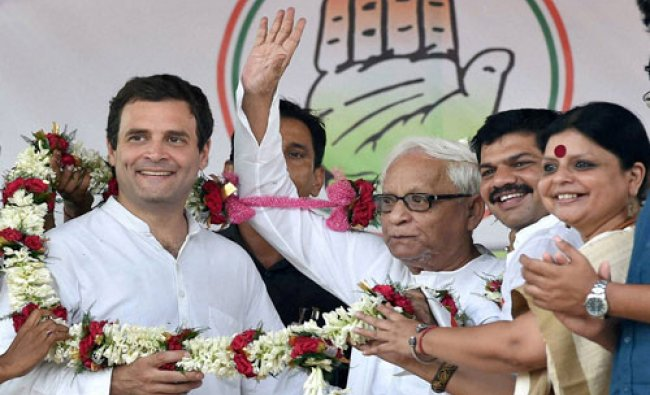 Vice President Rahul Gandhi and former West Bengal Chief Minister and CPI(M) leader Buddhadeb ...