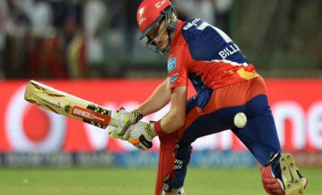 Delhi Daredevils batsman SW Billings plays a shot during an IPL T20 match against Rising Pune...