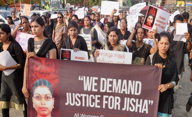 All Women\'s Group of Kerala conducting rally demanading justice for the Perumbavoor brutal rape...