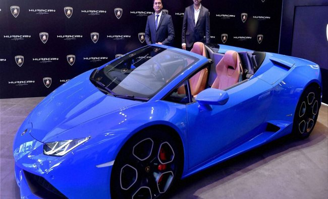 Newly launched Huracan LP 610-4 Spuder...