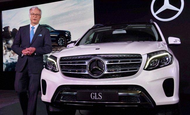 Launch of Mercedes-Benz GLS 350D luxurious SUV in New Delhi...