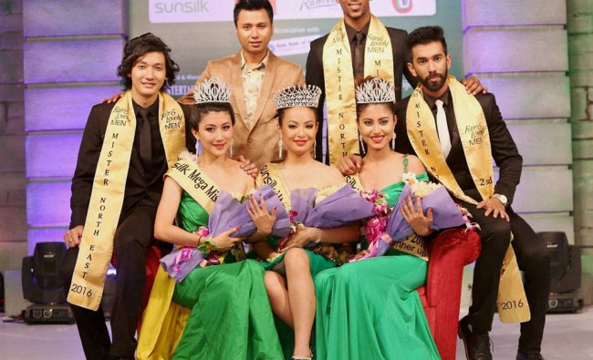 7th Mister North-East winner Animesh Pandit from Meghalaya, Sushanta Rajkumar from Manipur...