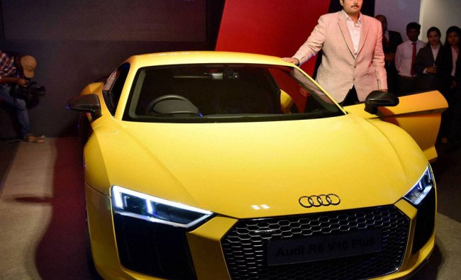 The launch of New Audi R8 V10 Plus in Hyderabad on Saturday...
