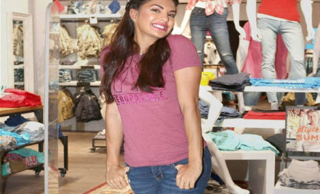 Bollywood actor Jacqueline Fernandez during the launch of Aeropostale store in Mumbai...