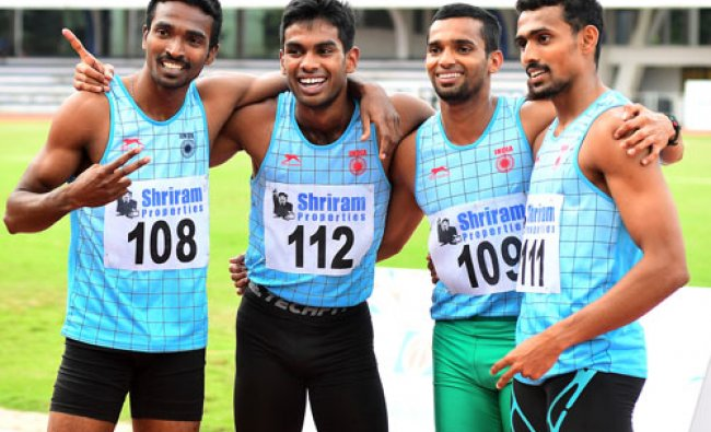 Athletes qualified for 4x400m relay teams for Rio 2016 Olympic Games at the Athletic meet