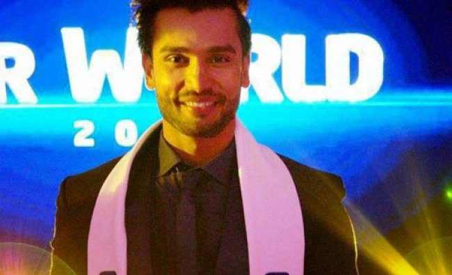 Indian model and TV personality Rohit Khandelwal after winning the Mr World 2016 beauty peagent...