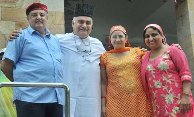 Parsi community people celebrate their New Year \'Navroze\' in Nagpur on Wednesday...